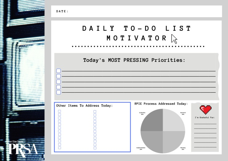 PRSA-RC Daily To-Do List Motivator